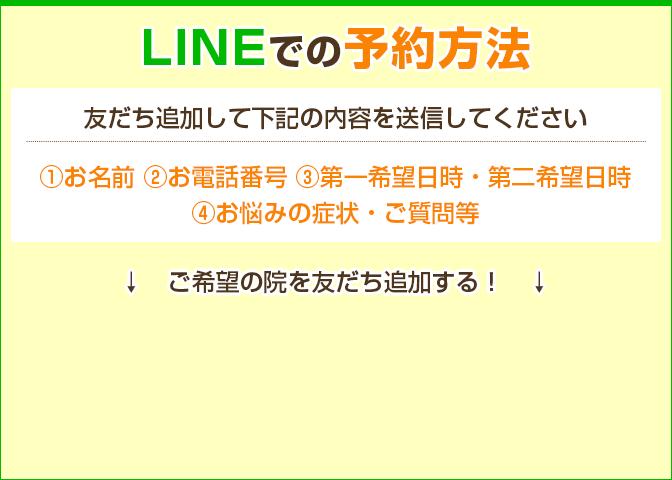 LINEでの予約方法